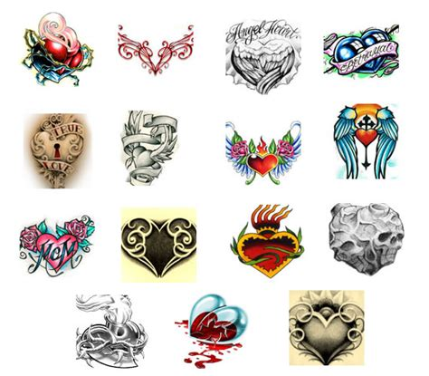 various heart tattoo designs tattooshunt com