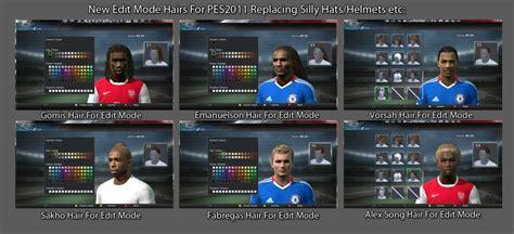 hair pack pes 13 edit mode hair mod pro evolution soccer 2011 at moddingway