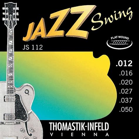 Thomastik Js112 Medium Light Flatwound Jazz Swing Electric Light Guitar Strings Vs Medium