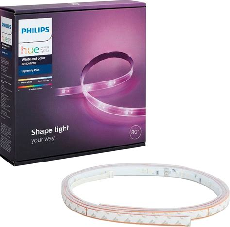 best ls for philips hue philips hue lightstrip plus dimmable led smart light multi