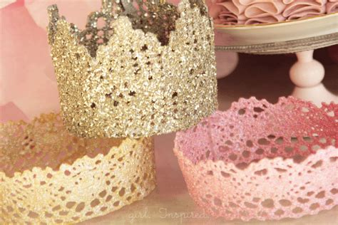 How To Make A Princess Crown Out Of Paper - lace princess crowns diy inspired