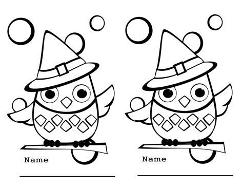 6 best images of fall owl printable coloring page free