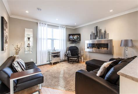 Houzz Living Rooms by Houzz Open Concept Apartment Above Retail In Downtown
