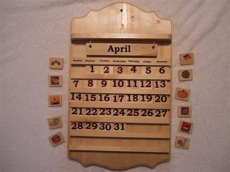 calendar kit sale perpetual monthly wooden calendar