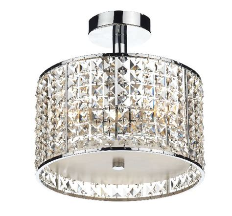 Dar Rho5350 Bathroom Chandelier Rhodes 3 Light Semi Flush Bathroom Lighting Centre