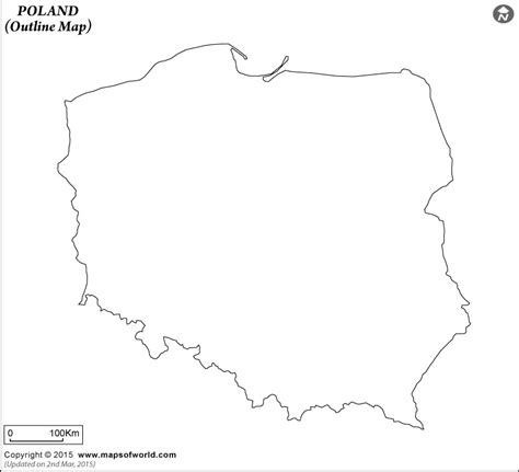 printable map of poland printable maps blank map of poland poland outline map
