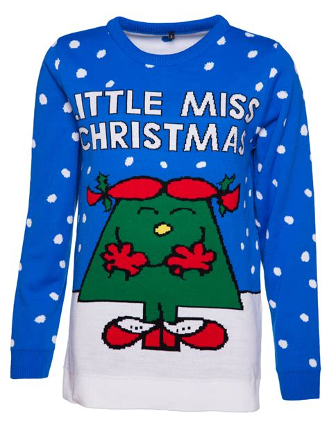 exclusive women s little miss christmas knitted jumper