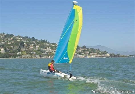 catamaran sailboat dimensions hobie cat bravo sailboat specifications and details on