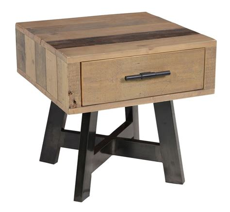Hausers Furniture by Classic Home Hauser 1 Drawer Side Table 339 Rustic