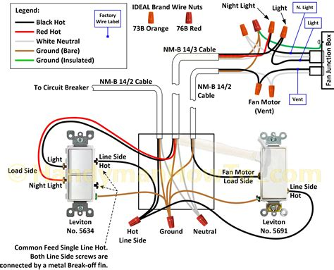 nutone bathroom fan light wiring diagram circuit diagram