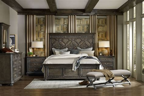 hooker bedroom furniture hooker furniture bedroom vintage west king wood panel bed