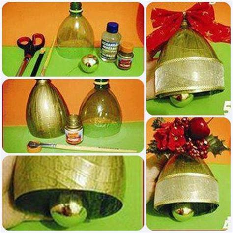 diy christmas bell ornament from plastic bottle good