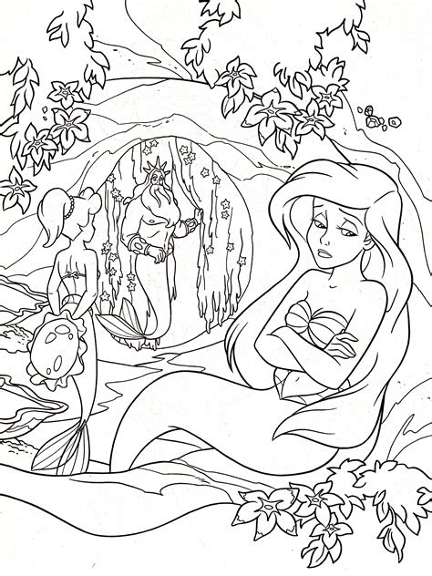 coloring pages for adults princess walt disney coloring pages princess aquata king triton