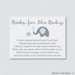baby shower bring book instead of card elephant baby shower bring a book instead of a card invitation