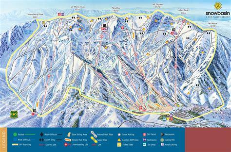 Ski Utah Sweepstakes - trail map snowbasin panorama