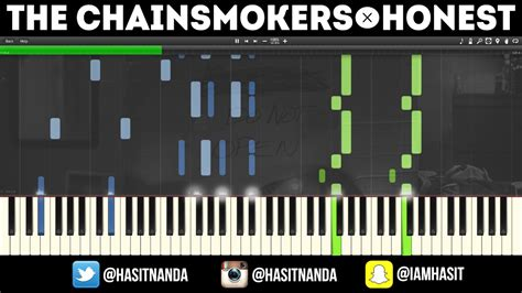 tutorial piano honesty the chainsmokers honest piano tutorial free sheets