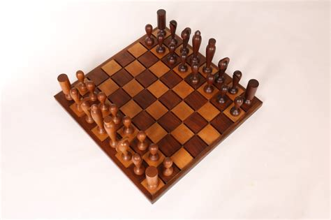 Handcrafted Chess Set - oversized wooden chess set handcrafted in california