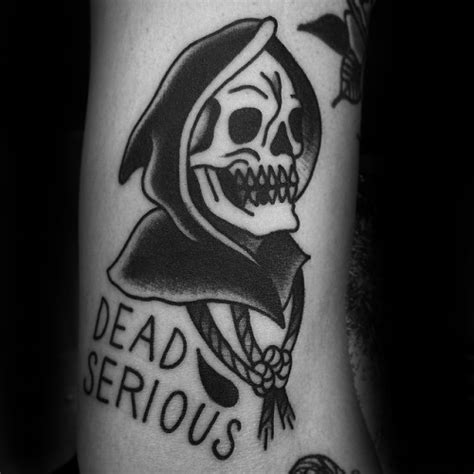 50 traditional reaper tattoo designs for men grim ink ideas
