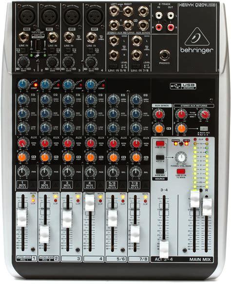 Adaptor Mixer Behringer behringer xenyx q1204usb mixer with usb gearnuts