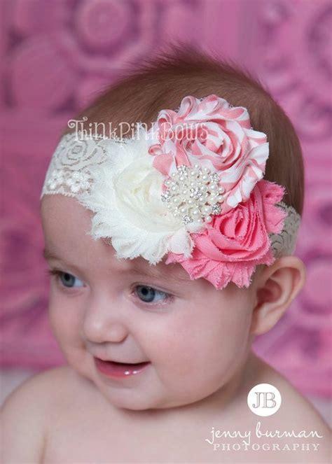 baby headband newborn headband baby headband shabby chic headband flower headband lace