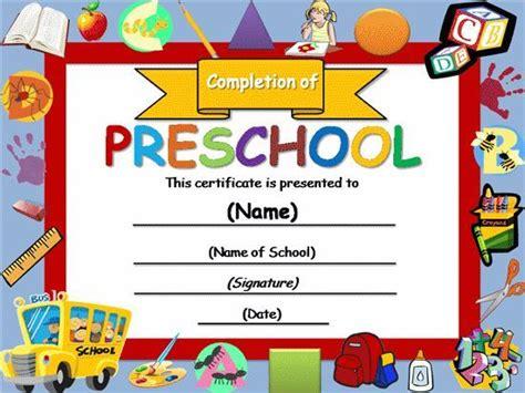 preschool graduation certificate template free certificate templates templates certificates