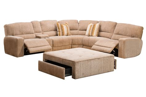 Sectional Reclining Sofas Ballard 4 Power Reclining Sectional