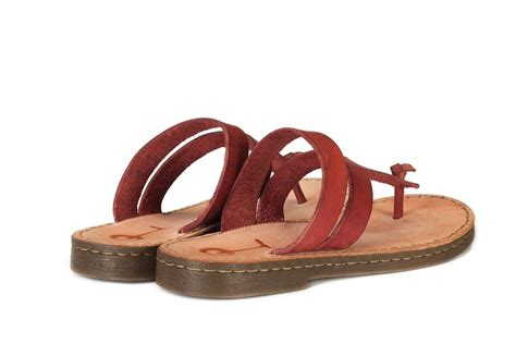 cherry brown leather real leather flip flops for women cherry brown
