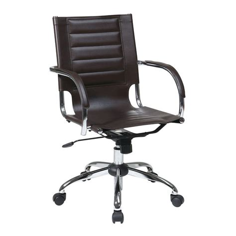 Metal Depot 4934 by Zuo Criss Cross Espresso Office Chair 205032 The Home Depot