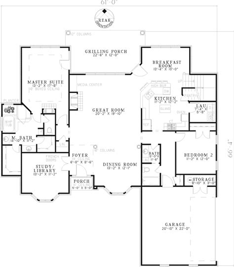 brick home floor plans eldred luxury brick home plan 055s 0067 house plans and more