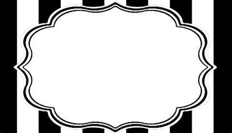 cards template black and white black white striped place cards and buffet labels