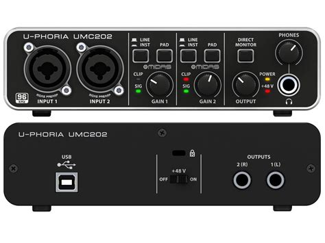 Behringer Audio Interface behringer audio interface u phoria umc202 in pakistan