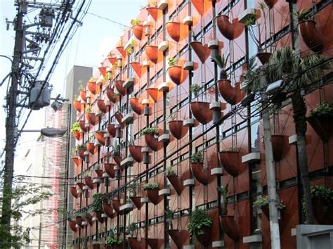 Organic Vertical Gardening Organic Building In Osaka Is Clad With Plant Filled