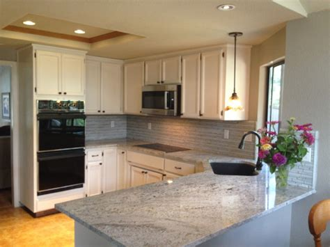Kitchen Countertop And Backsplash Ideas by Blanco Gabrielle Granite