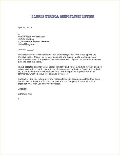 7 resignation letter sles invoice template
