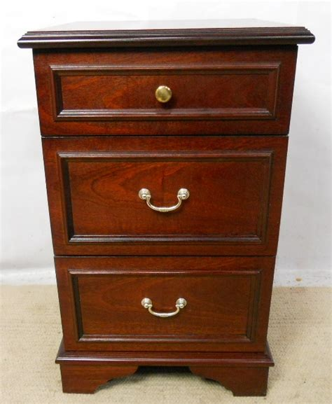mahogany bedside chest of drawers by stag