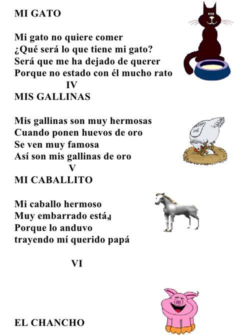 poema de los animales animales animalitos animalotes poema