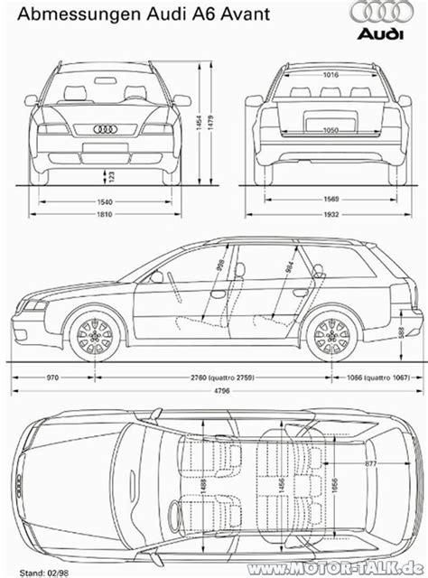 Audi A6 Abmessungen by Abmessungen Avant Vfl Fahrzeugbreite Audi A6 4b