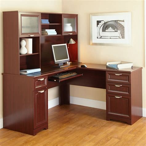 Desks At Office Depot Office Depot Desk With Hutch Realspace Landon Desk With Hutch Cherry By Office Depot Officemax