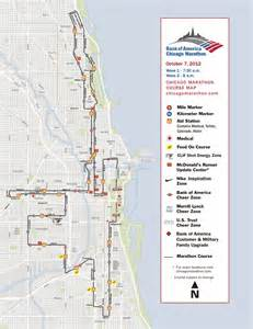 Chicago Marathon Course Map by Jonathan Farrell Bank Of America Chicago Marathon Course Map
