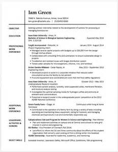 Additional Skills Resume Exles by Exle Resumes Engineering Career Services Iowa State