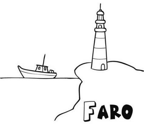 imagenes en blanco y negro de barcos dibujo de faro y barco para imprimir y pintar dibujos del
