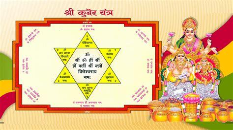 Yantra Mantra kuber yantra puja vidhi
