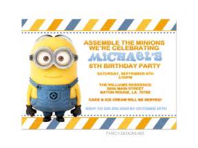 minion invitations template free printable minion birthday invitations ideas