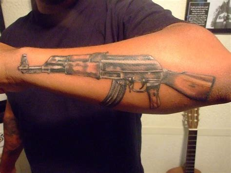 ak 47 tattoo ak47 forearm tattoos forearm