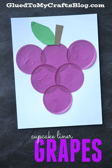 grapes craft for cupcake liner grapes kid craft glued to my crafts