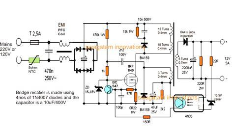 12v 10a battery charger circuit diagram 12v 5 smps battery charger circuit