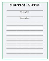 meeting note taking template free printable pdf business forms templates receipts