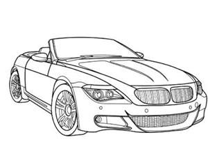 Bmw Convertible Car Pictures To Color Printable Coloring