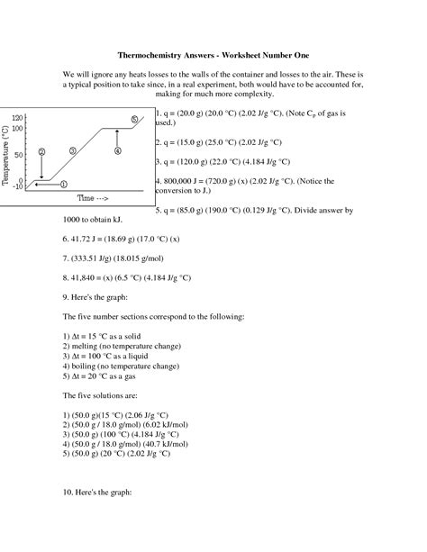 Heating Curve Worksheet Answer Key by 100 Heating Curve Worksheet Answers Bitesize