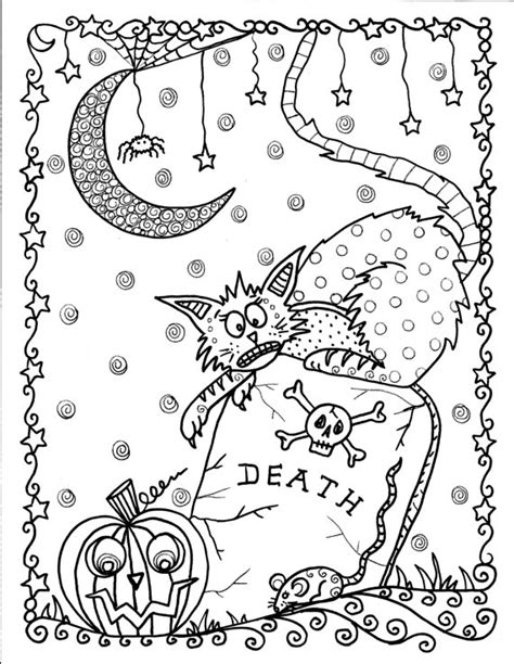 Instant Download Halloween Coloring pages Art to